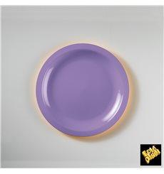 "Plastic Plate Flat Lilac ""Round"" PP Ø18,5 cm (600 Units)"