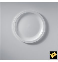 "Plastic Plate Flat White ""Round"" PP Ø18,5 cm (50 Units)"