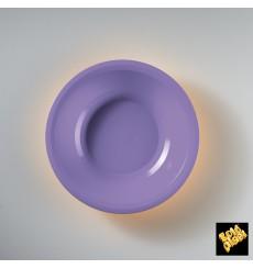 "Plastic Plate Deep Lilac ""Round"" PP Ø19,5 cm (50 Units)"