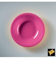 "Plastic Plate Deep Fuchsia ""Round"" PP Ø19,5 cm (50 Units)"