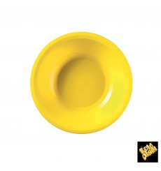 "Plastic Plate Deep Yellow ""Round"" PP Ø19,5 cm (600 Units)"