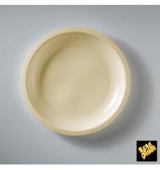 "Plastic Plate Flat Cream ""Round"" PP Ø22 cm (50 Units)"