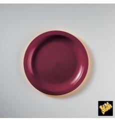 "Plastic Plate Flat Burgundy ""Round"" PP Ø18,5 cm (600 Units)"