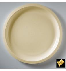 """Plastic Plate Cream """"Round"""" PP Ø29 cm (25 Units)"""