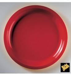 "Plastic Plate Red ""Round"" PP Ø29 cm (25 Units)"