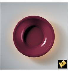 "Plastic Plate Deep Burgundy ""Round"" PP Ø19,5 cm (50 Units)"