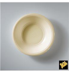"Plastic Plate Deep Cream ""Round"" PP Ø19,5 cm (600 Units)"