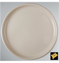 """Plastic Plate for Pizza Beige """"Round"""" PP Ø35 cm (12 Units)"""