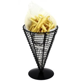 Serving Basket Containers Steel Ø12,8x18cm (1 Unit)