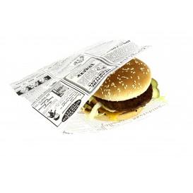 Paper Food Bag Grease-Proof Opened L Shape 17x18cm (500 Units)