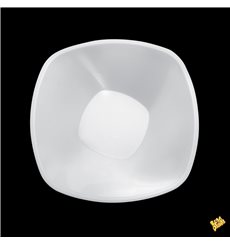 "Plastic Bowl PP ""Square"" White 1250ml Ø21cml (60 Units)"