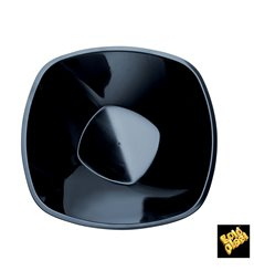 "Plastic Bowl PP ""Square"" Black 1250ml Ø21cm (60 Units)"