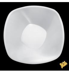 "Plastic Bowl PP White ""Square"" 3000ml Ø27,7cm (30 Units)"