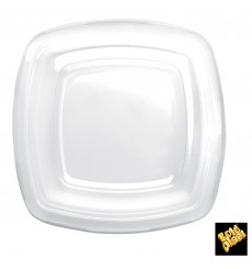Plastic Lid Clear for Plate Square shape PET 18 cm (300 Units)