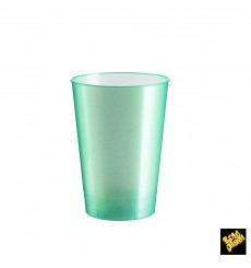 "Plastic Cup PS ""Moon"" Tiffany Pearl 230ml (50 Units)"