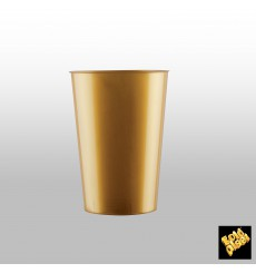 "Plastic Cup PS ""Moon"" Gold 230ml (35 Units)"