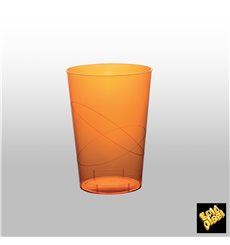 "Plastic Cup PS ""Moon"" Orange Clear 230ml (1000 Units)"