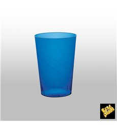 "Plastic Cup PS ""Moon"" Blue Clear 230ml"