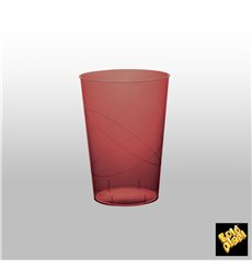 """Plastic Cup PS """"Moon"""" Burgundy Clear 230ml (35 Units)"""