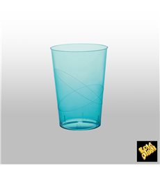 "Plastic Cup PS ""Moon"" Turquoise Clear 230ml (50 Units)"