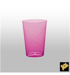 "Plastic Cup PS ""Moon"" Fuchsia Clear 230ml (50 Units)"
