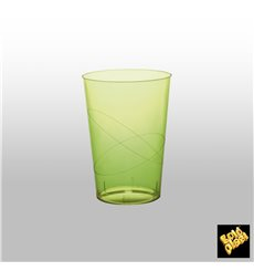 "Plastic Cup PS ""Moon"" Lime Green Clear 230ml (50 Units)"