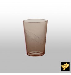 """Plastic Cup PS """"Moon"""" Brown Clear 230ml (50 Units)"""