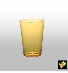 """Plastic Cup PS """"Moon"""" Yellow Clear 230ml (50 Units)"""