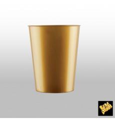 "Plastic Cup PS ""Moon"" Gold 320ml (20 Units)"