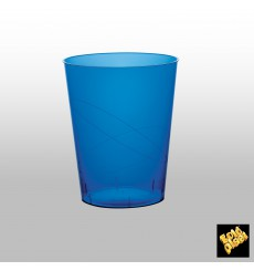 "Plastic Cup PS ""Moon"" Blue Clear 350ml"