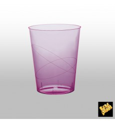 """Plastic Cup PS """"Moon"""" Lilac Clear 350ml (20 Units)"""