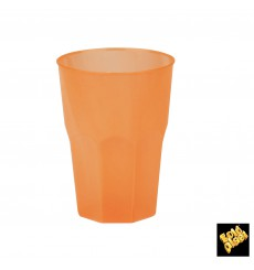 "Plastic Cup PP ""Frost"" Orange 350ml (20 Units)"