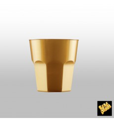 Plastic Cup for Cocktail PS Gold Ø7,3cm 220ml (50 Units)