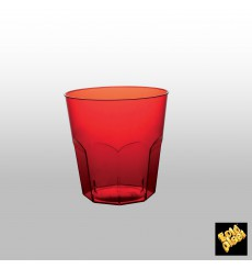 Plastic Cup PS Red Clear Ø7,3cm 220ml (50 Units)