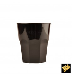 Plastic Cup for Cocktail PP Black Ø8,4cm 270ml (20 Units)