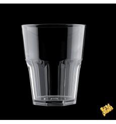 "Plastic Glass SAN Reusable ""Rox"" Clear 300ml (8 Units)"
