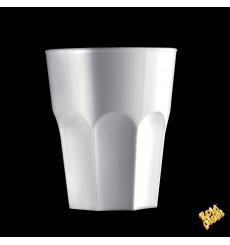 "Plastic Glass SAN Reusable ""Rox"" White 300ml (8 Units)"