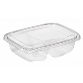 Plastic Deli Container PET Tamper-Evident 2C 200/300ml 18x14x4cm (390 Units)