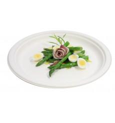 Sugarcane Plate White Ø26 cm (50 Units)