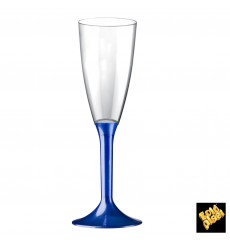 Plastic Stemmed Flute Sparkling Wine Blue Pearl 120ml 2P (20 Units)