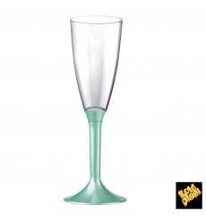Plastic Stemmed Flute Sparkling Wine Tiffany Pearl 120ml 2P (20 Units)