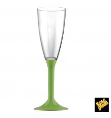 Plastic Stemmed Flute Sparkling Wine Lime Green 120ml 2P (20 Units)