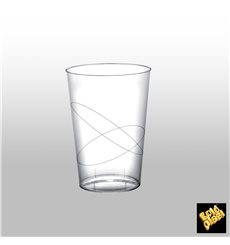 """Plastic Cup PS """"Moon"""" Clear 230ml (1000 Units)"""