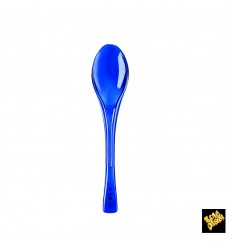 "Plastic Spoon PS ""Fly"" Blue Clear 14,5cm (3000 Units)"