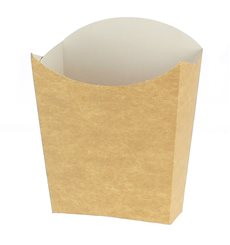 Paper French Fries Scoop Container Kraft Medium size 8,2x3,5x12,5cm (500 Units)