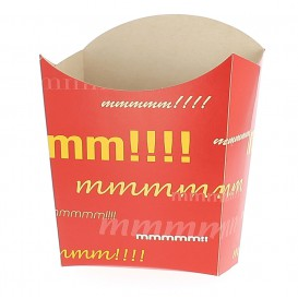 Paper French Fries Scoop Container Medium size 8,2x3,5x12,5cm (500 Units)