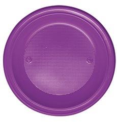 Plato de Plastico Hondo Violeta PS 220mm (600 Uds)