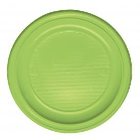 Plastic Plate PS Flat Lime Green Ø22 cm (780 Units)