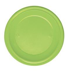 Plato de Plastico Hondo Verde PS 220 mm (30 Uds)