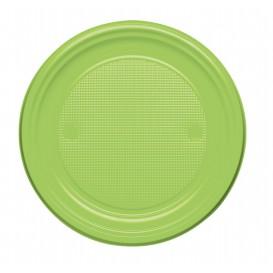 Plastic Plate PS Flat Lime Green Ø17 cm (1100 Units)